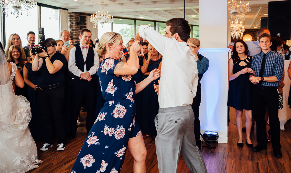 groom and his mother dance